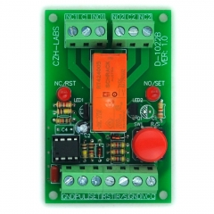 Panel Mount Momentary-Switch/Pulse-Signal Control Latching DPDT Relay Module,5V.