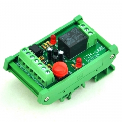 DIN Rail Momentary-Switch/Pulse-Signal Control Latching SPDT Relay Module, 24V.