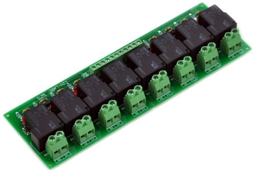 8 Channel SPST-NO 30Amp Power Relay Module Board, 12V Version, 30A.