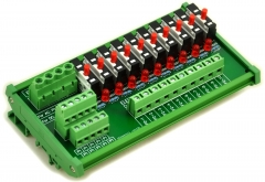 DIN Rail Mount 10 Position Thermal Circuit Breaker Power Distribution Module.