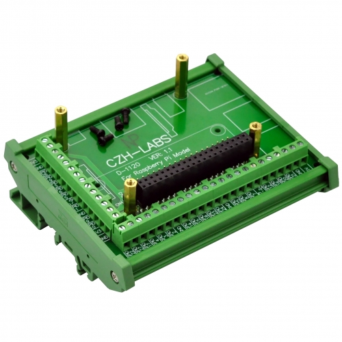 DIN Rail Mount Screw Terminal Block Adapter Module, for Raspberry Pi 1 Model A+,1 B+, 2 B, 3 B, 3 B+, 3 A+, ZERO, ZERO W.