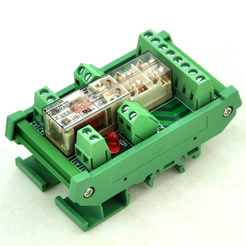 DIN Rail Mount Safety Relay Module, 48V AC/DC, SR6B4048, 4PST-NO DPST-NC.