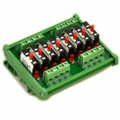 DIN Rail Mount Independent 8 Channels Thermal Circuit Breaker Module.