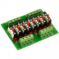Panel Mount Independent 8 Channels Thermal Circuit Breaker Module.