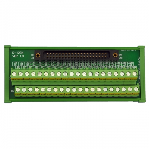Compatible XW2B-40F5-P 40Pin Rectangular Connector-Terminal Block Conversion Module, for PLC Wiring. MD-D1234T-1