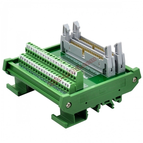 DIN Rail Mount Dual IDC40 Pitch 2.54mm Male Header Interface Module Breakout Board.