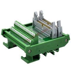 DIN Rail Mount Dual IDC34 Pitch 2.54mm Male Header Interface Module Breakout Board.