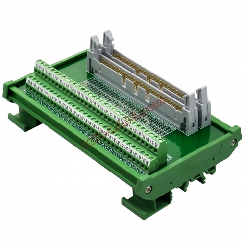 DIN Rail Mount Dual IDC64 Pitch 2.54mm Male Header Interface Module Breakout Board.