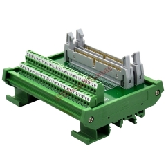 DIN Rail Mount Dual IDC50 Pitch 2.54mm Male Header Interface Module Breakout Board.