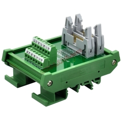 DIN Rail Mount Dual IDC14 Pitch 2.54mm Male Header Interface Module Breakout Board.
