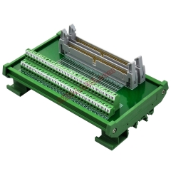 DIN Rail Mount Dual IDC60 Pitch 2.54mm Male Header Interface Module Breakout Board.
