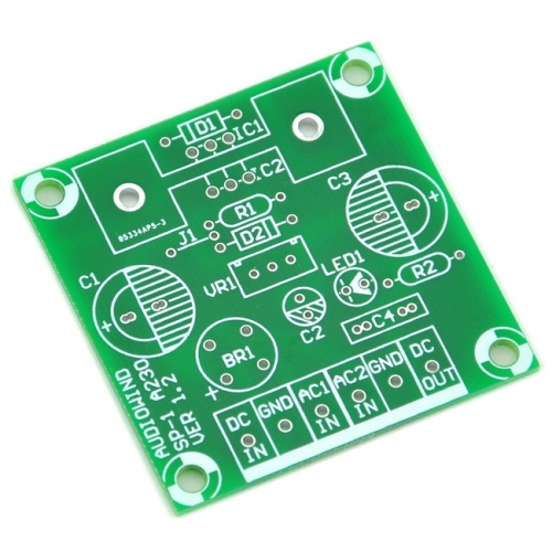 Positive Voltage Regulator PCB for LM317 or 78xx Series IC.