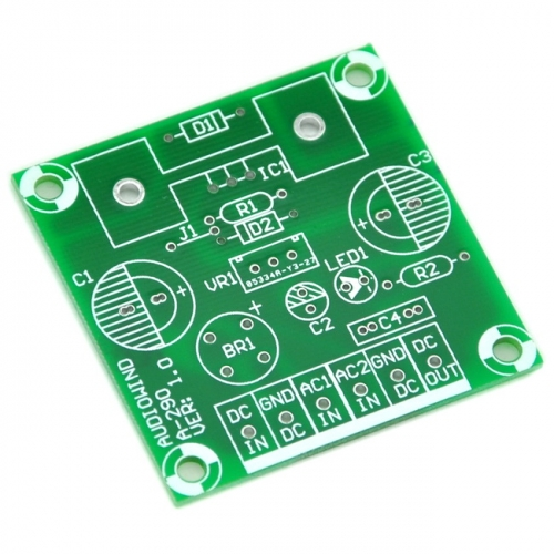 Negative Voltage Regulator PCB for LM337 7905 7906 7908 7909 7910 7912 7915 7924.