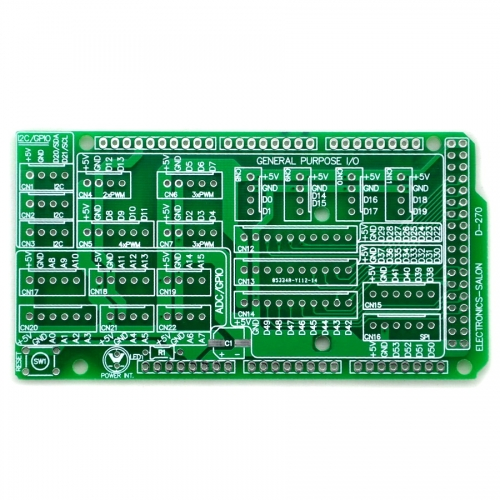 I/O Extension PCB for Arduino MEGA 2560 R3 Board DIY.