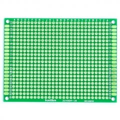 "60x80mm Double-Side Prototype Board PCB, FR-4 Glass Fiber, 2.4"" x 3.2"""