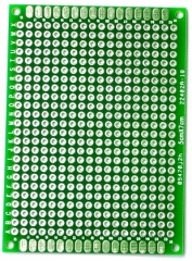 "50x70mm Double-Side Prototype Board PCB, FR-4 Glass Fiber, 1.97"" x 2.76"""