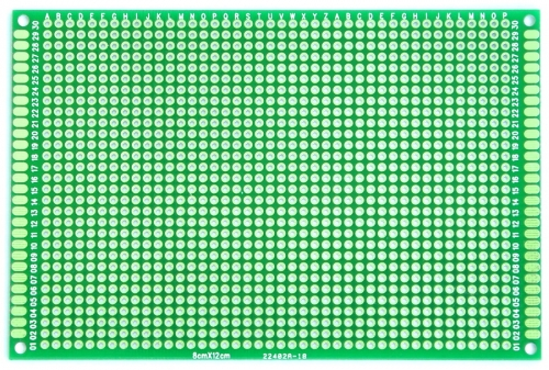 "80x120mm Double-Side Prototype Board PCB, FR-4 Glass Fiber, 3.2"" x 4.8"""