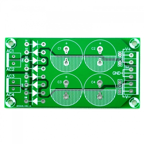 Dual Bridge Dual Polarity Unregulated Power Supply PCB.