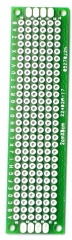 "20x80mm Double-Side Prototype Board PCB, FR-4 Glass Fiber, 0.8""x3.2"" ."