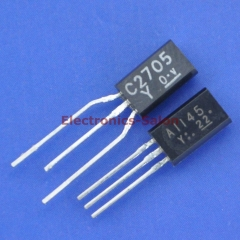 5x 2SA1145-Y and 5x 2SC2705-Y TOSHIBA Audio Frequency Transistor, A1145 / C2705.
