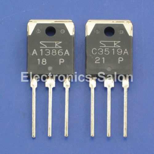 1pcs 2SA1386A & 1pcs 2SC3519A Original SANKEN Audio High Power Transistor.
