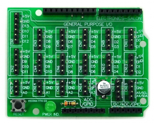 I/O Extension Board Kit for Arduino UNO DIY. [SOLDERING REQUIRED]