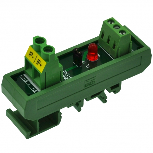 Slim DIN Rail Mount AC/DC +/-20Amp Current Sensor Module, based on ACS712.