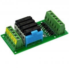 CZH-LABS Passive DC5V 4 SPST-NO 5Amp APAN3105 Slim Power Relay Module.