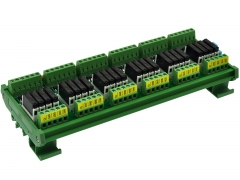 CZH-LABS DIN Rail Mount Passive DC5V 24 SPST-NO 5Amp APAN3105 Slim Power Relay Module.