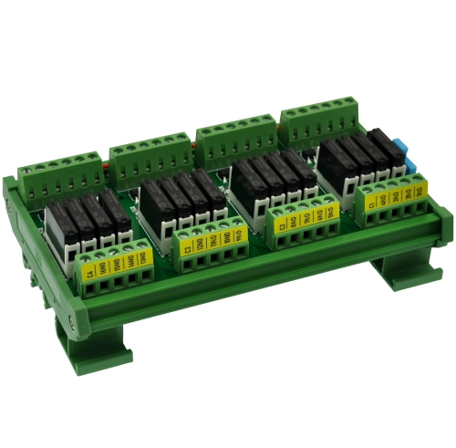 CZH-LABS DIN Rail Mount Passive DC5V 16 SPST-NO 5Amp APAN3105 Slim Power Relay Module.