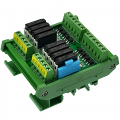 CZH-LABS DIN Rail Mount Passive DC5V 8 SPST-NO 5Amp APAN3105 Slim Power Relay Module.