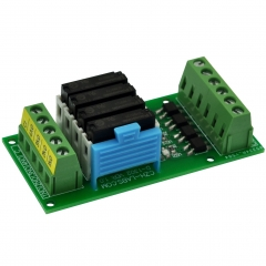 CZH-LABS Passive DC24V 4 SPST-NO 5Amp APAN3124 Slim Power Relay Module.