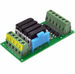 CZH-LABS Passive DC12V 4 SPST-NO 5Amp APAN3112 Slim Power Relay Module.