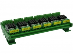 CZH-LABS DIN Rail Mount Passive DC12V 24 SPST-NO 5Amp APAN3112 Slim Power Relay Module.