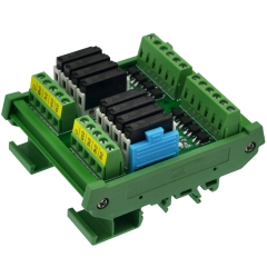 CZH-LABS DIN Rail Mount Passive DC24V 8 SPST-NO 5Amp APAN3124 Slim Power Relay Module.