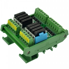 CZH-LABS DIN Rail Mount Passive DC12V 8 SPST-NO 5Amp APAN3112 Slim Power Relay Module.