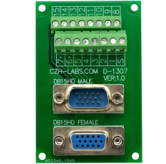 CZH-LABS DSUB DB15HD Male/Female Header Breakout Board, D-SUB Breakout Moudle.