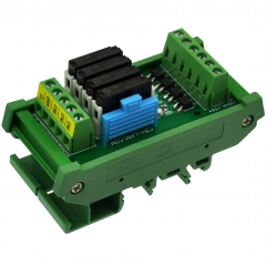 CZH-LABS DIN Rail Mount Passive DC24V 4 SPST-NO 5Amp APAN3124 Slim Power Relay Module.