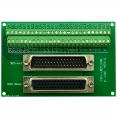 CZH-LABS DSUB DB50 Male/Female Header Breakout Board, D-SUB Breakout Moudle.