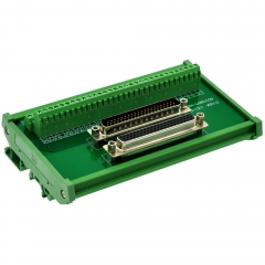 CZH-LABS DIN Rail Mount DSUB DB62HD Male/Female Header Interface Module, D-SUB Breakout Board.