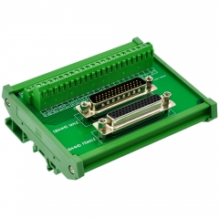 CZH-LABS DIN Rail Mount DSUB DB44HD Male/Female Header Interface Module, D-SUB Breakout Board.