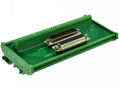 CZH-LABS DIN Rail Mount DSUB DB78HD Male/Female Header Interface Module, D-SUB Breakout Board.
