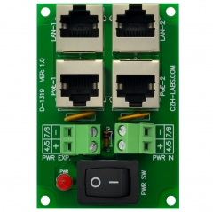 CZH-LABS 2 Ports Passive RJ45 PoE Power Injection Board, Power Over Ethernet Injector Module.