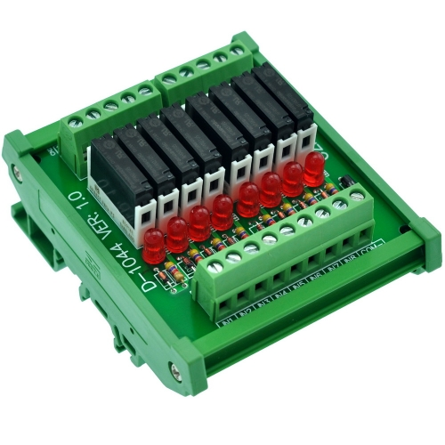 ELECTRONICS-SALON Slim DIN Rail Mount DC5V Source/PNP 8 SPST-NO 5A Power Relay Module, APAN3105