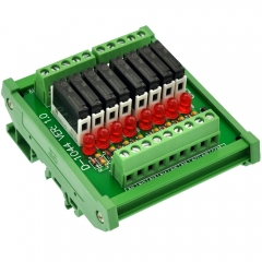 CZH-LABS Slim DIN Rail Mount DC24V Source/PNP 8 SPST-NO 5A Power Relay Module, APAN3124
