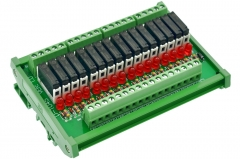CZH-LABS Slim DIN Rail Mount DC12V Source/PNP 16 SPST-NO 5A Power Relay Module, APAN3112