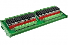 CZH-LABS Slim DIN Rail Mount DC12V Source/PNP 32 SPST-NO 5A Power Relay Module, APAN3112