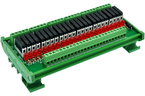 CZH-LABS Slim DIN Rail Mount DC5V Source/PNP 24 SPST-NO 5A Power Relay Module, APAN3105