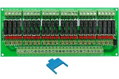CZH-LABS Slim Panel Mount DC24V Source/PNP 24 SPST-NO 5A Power Relay Module, APAN3124