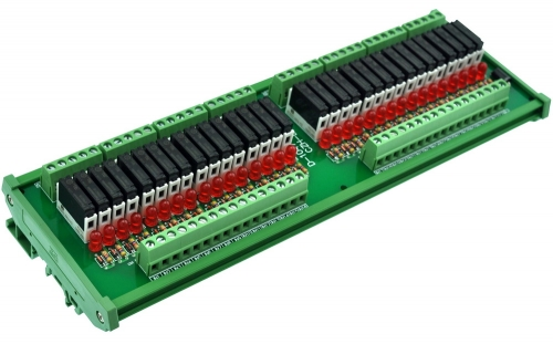 CZH-LABS Slim DIN Rail Mount DC5V Source/PNP 32 SPST-NO 5A Power Relay Module, APAN3105